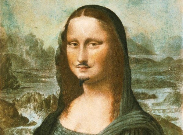 Marcel Duchamp Mina Lisa z wąsami mediofobia